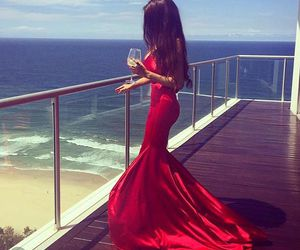 dress, girl, and red image