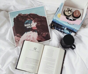 book, halsey, and music image