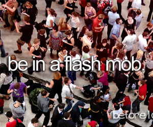 flash mob and before i die image