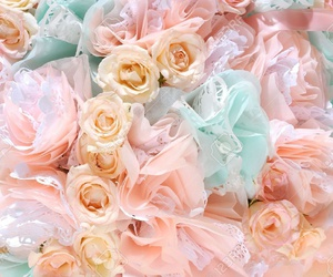 pastel and flowers image