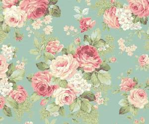 rose, vintage, and wallpaper image