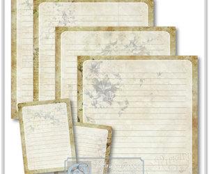 craft supplies, grunge, and journaling image