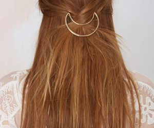 hair, accessories, and moon image