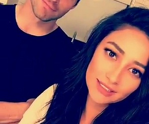 pll, shay mitchell, and ian harding image