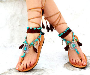 etsy, gladiator sandals, and flat sandals image