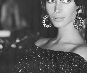 90s, black and white, and Christy Turlington image