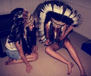 best friends, indians, and beauty image