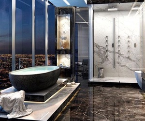 luxury, bathroom, and home image
