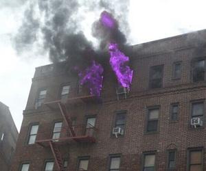 fire, purple, and alternative image