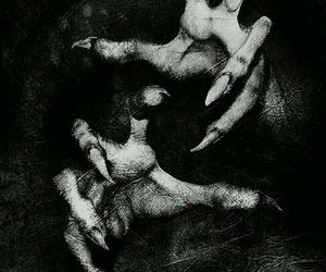 dark, black, and hands image