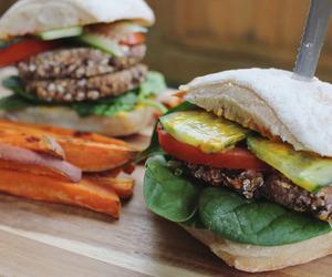 burger, healthy, and vegan image
