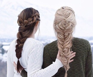 hair, braid, and friends image