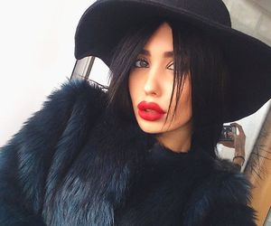 black and red lips image
