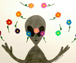 alien, et, and flowers image
