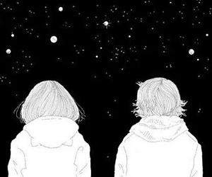 stars, couple, and black image