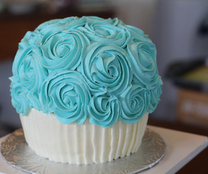 blue, food, and cupcake image