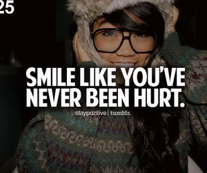 smile, hurt, and quote image