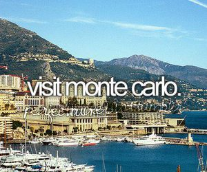 monte carlo, bucket list, and quote image