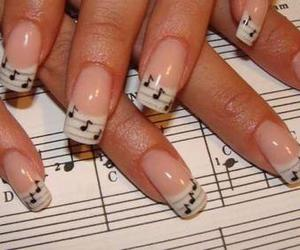 music, nails, and note image