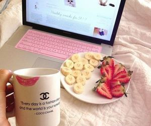 chanel, strawberry, and pink image