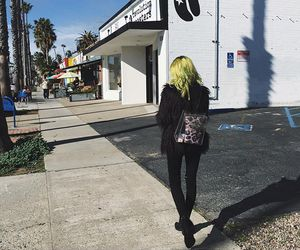 colorful hair, neon hair, and dyed hair image