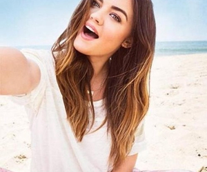 lucy hale, pll, and beach image