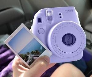 camera, pastel, and polaroid image