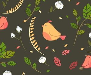 birds, pattern, and wallpapers image