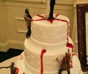 cake, wedding, and zombies image