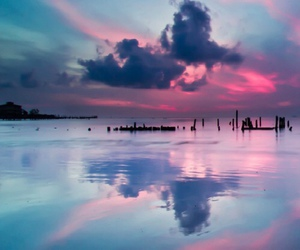 blue, clouds, and pink image