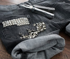 studs, jeans, and shorts image
