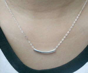bridal necklace, geometric necklace, and modern necklace image