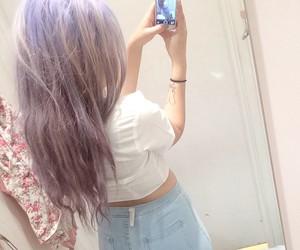 aesthetic, dyed hair, and kawaii image