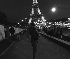 beautiful, girl, and effeil tower image