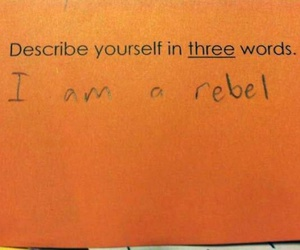rebel, funny, and orange image