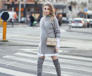 fashion, fashion blogger, and grey image