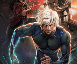 ultron, quicksilver, and Avengers image