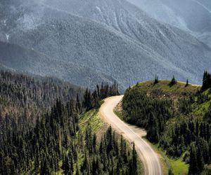 mountains, road, and landscape image