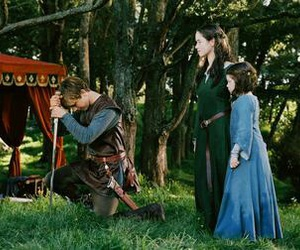 anna popplewell, william moseley, and peter pevensie image