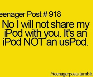 ipod, funny, and teenager post image