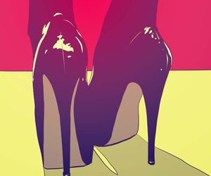 shoes, art, and red image