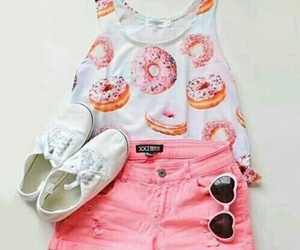 pink, fashion, and donuts image