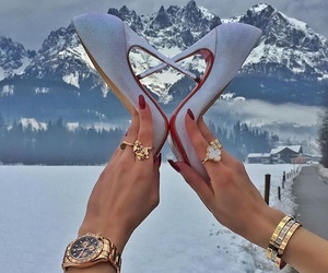 cartier, snow, and glamour image