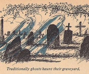 graveyard and Halloween image
