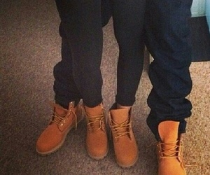 couple, love, and timberland image
