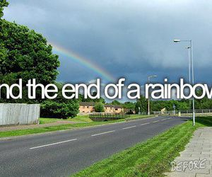 rainbow, before i die, and end image