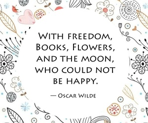 quote, book, and flowers image