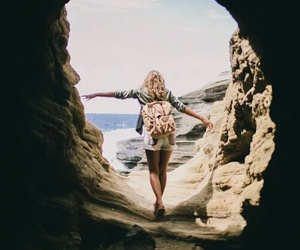 girl, travel, and beach image