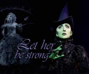 wish, elphaba, and wicked the musical image