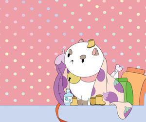 cartoon and bee and puppycat image